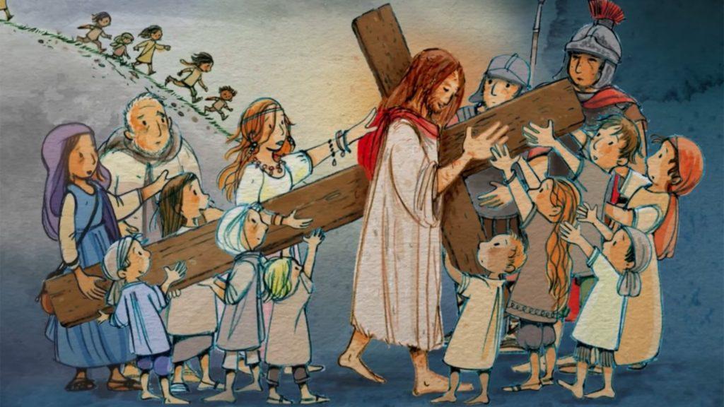 via crucis per ragazzi in diretta